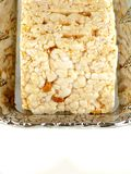 Rice, wheat bread isolated over white background.  royalty free stock images