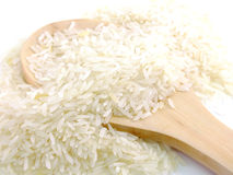 Rice  on white background Royalty Free Stock Photography