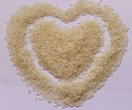 Rice on white board Royalty Free Stock Image