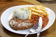 Rice With Beans And Meat Royalty Free Stock Photography