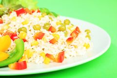 Rice With Peas Stock Image