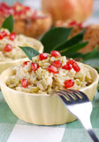 Rice With Pomegranate Seeds Stock Photo