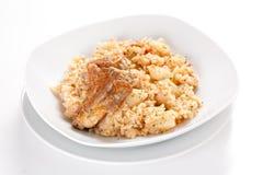 Rice With Potatoes And Pork Stock Photos