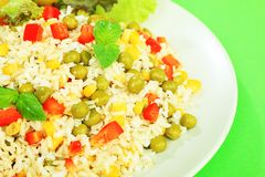 Rice With Vegetables Royalty Free Stock Image