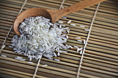 Rice witsh spoon Royalty Free Stock Images