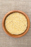 Rice in wooden plate Royalty Free Stock Photo