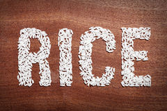 Rice word. Stock Photos