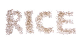 Rice word isolated Royalty Free Stock Photo