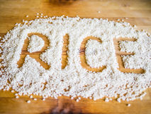 Rice word made of rice Royalty Free Stock Image