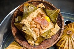 Rice wrapped in lotus leaf. Stock Image
