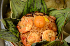 Rice wrapped in lotus leaves Stock Photos