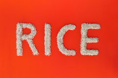 Rice writing Royalty Free Stock Image