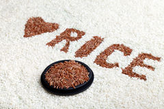 Rice Written In Rice Stock Image