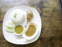 Rice z braised kurczakiem Zdjęcie Royalty Free
