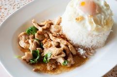 Rice z fertaniem smażącym Fotografia Stock