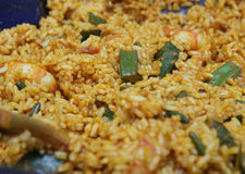 Rice z garnelą obraz royalty free