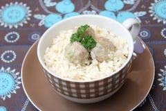 Rice z klopsikami fotografia royalty free