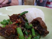 Rice z korzennym crispy sumem zdjęcie royalty free