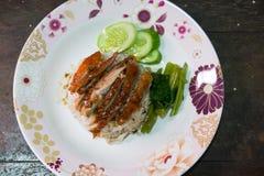 Rice z pieczoną kaczką Zdjęcia Stock