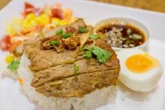 Rice z pieczoną wieprzowiną Fotografia Stock