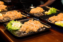 Rice z sałatką i cytryną Obrazy Stock