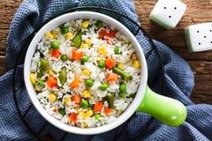 Rice z warzywami fotografia stock
