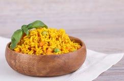 Rice z zielonymi grochami Fotografia Stock
