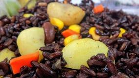 Riceberry avec l'écrou d'échecs, carotte, maïs images stock