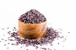 Riceberry na bacia de madeira Imagem de Stock Royalty Free