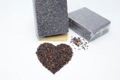 Riceberry ou oganicrice no fundo branco Fotos de Stock Royalty Free