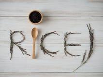 Riceberry pour le bon ingrédient de nourriture propre sain Photo libre de droits