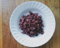 The riceberry. Riceberry  Rice is the new variety of rice that has been bred in Thailand Royalty Free Stock Image