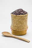 Riceberry ryż w kratip ryż obraz stock