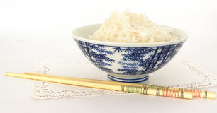 Ricebowl en eetstokjes 1 royalty-vrije stock foto