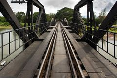Ricer Kwai bridge railway Stock Photography