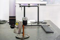 Ricerca automatica a alta tecnologia e moderna del laser 3d per la fabbricazione industriale di reingegnerizzazione o di misurazi immagine stock