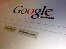Ricerca con Google Australia Fotografie Stock