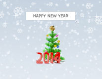 Ricerca del buon anno 2014 Fotografia Stock