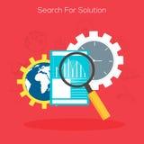 Ricerca del concetto della soluzione con gli elementi infographic Fotografia Stock