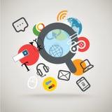 Ricerca del concetto di informazioni Fotografie Stock