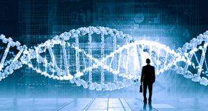 Ricerca del DNA immagine stock