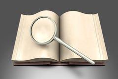 Ricerca del libro illustrazione vettoriale