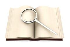 Ricerca del libro illustrazione di stock
