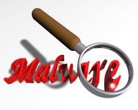 Ricerca del Malware Fotografia Stock