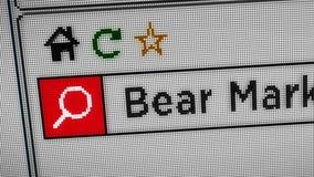 Ricerca del mercato di orso di Internet illustrazione vettoriale