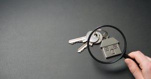 Ricerca dell'appartamento Concetto 6 del bene immobile fotografia stock libera da diritti