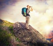 Ricerca dell'esploratore Fotografia Stock