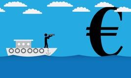 Ricerca dell'euro Immagine Stock