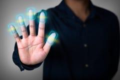 Ricerca dell'impronta digitale Fotografia Stock Libera da Diritti