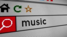 Ricerca della musica di Internet stock footage